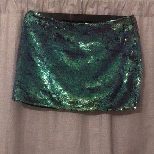 Armani Exchange Factory mermaid sequin skirt